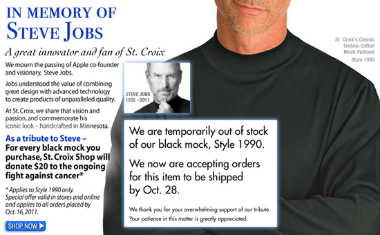 St. Croix Collections Steve Jobs