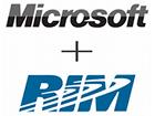RIM и Microsoft объявили о сотрудничестве