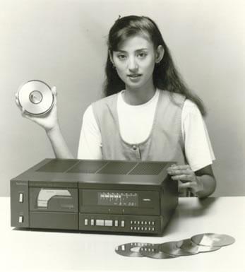 Первый CD-плеер SL-P10, 1982 год