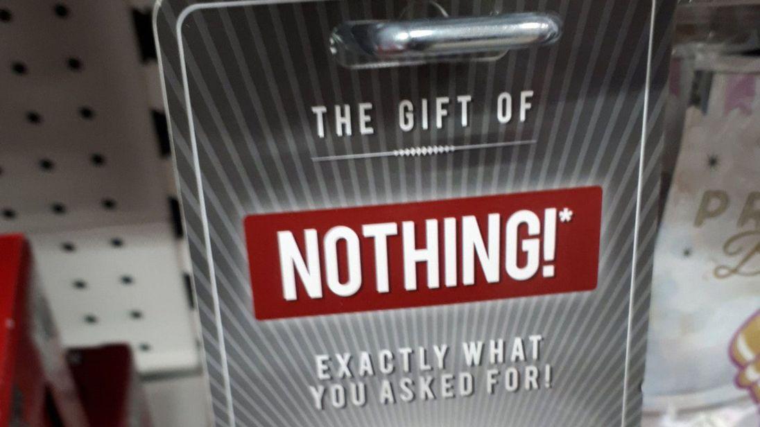 """Подарок """"Ничего"""""""