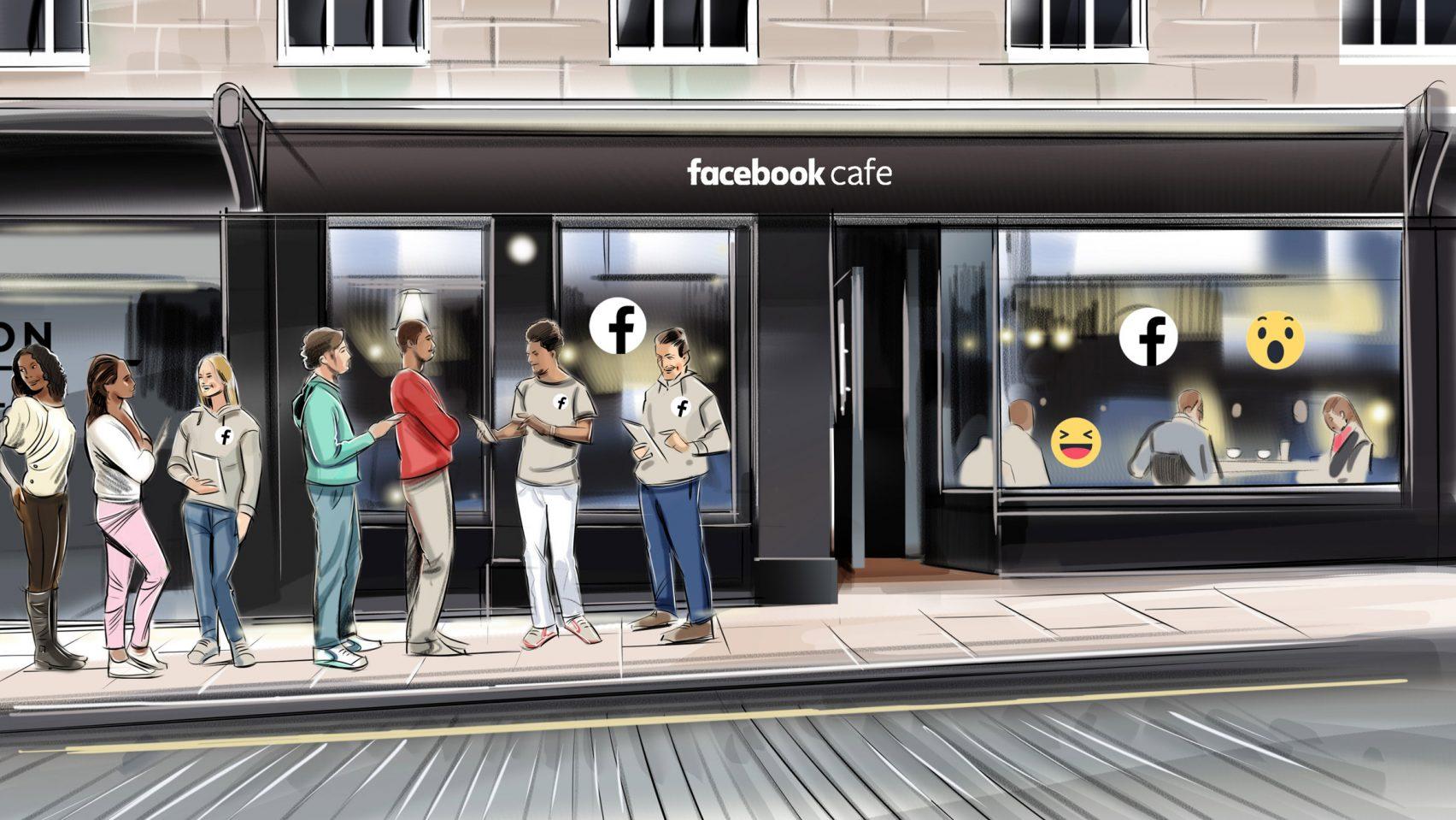 Facebook cafe pop-up