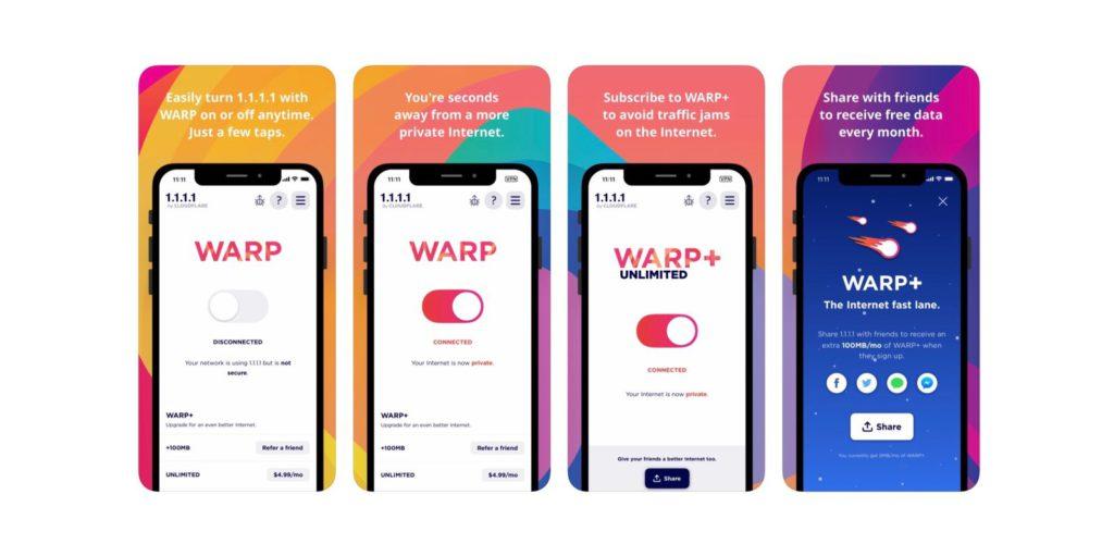 Бесплатный VPN-сервис Warp