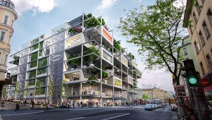 IKEA строит в Вене большой магазин без парковки