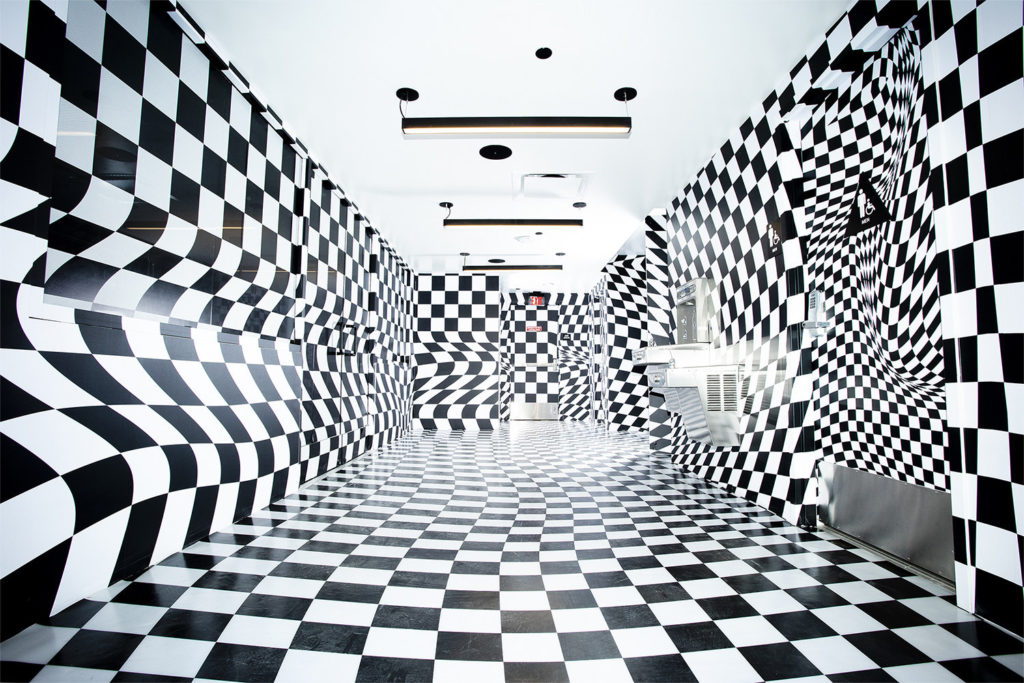 Checkerboard room