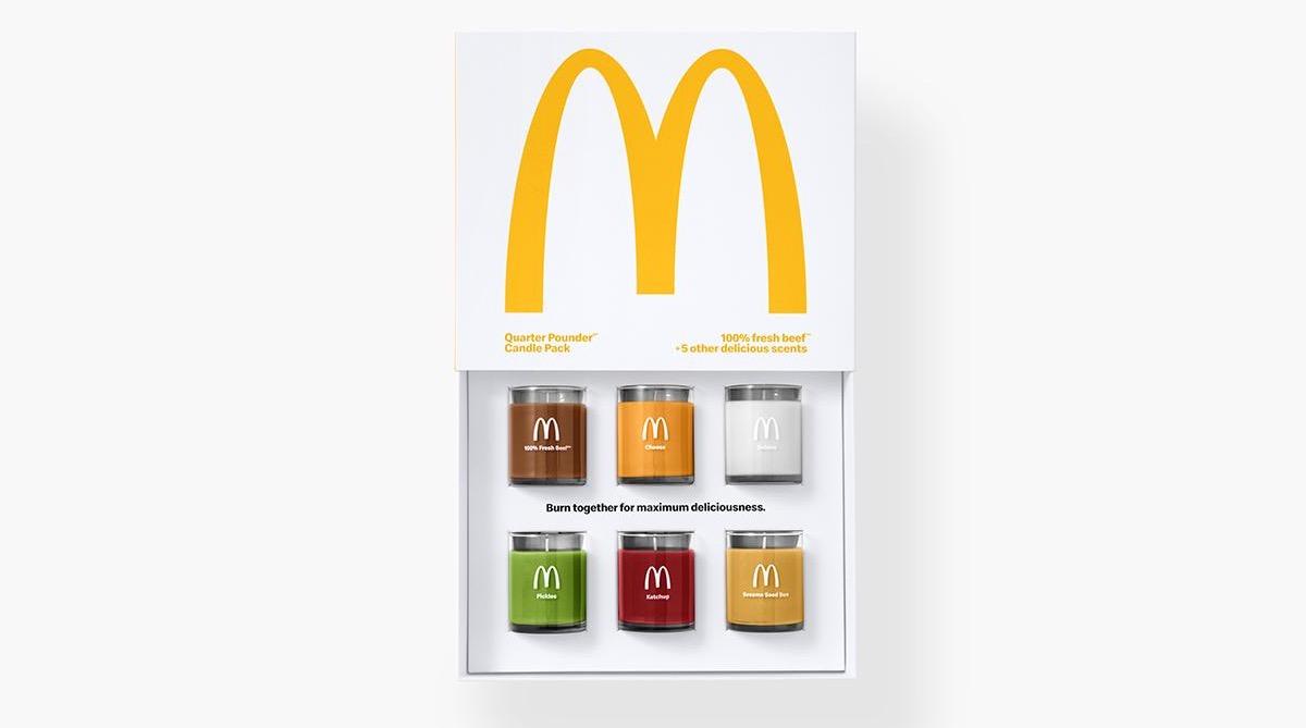 McDonald's представила коллекцию ароматических свечей в честь гамбургера