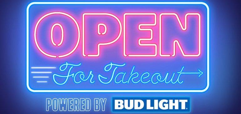 Bud Light расскажет о ресторанах, в которых можно сделать заказ навынос