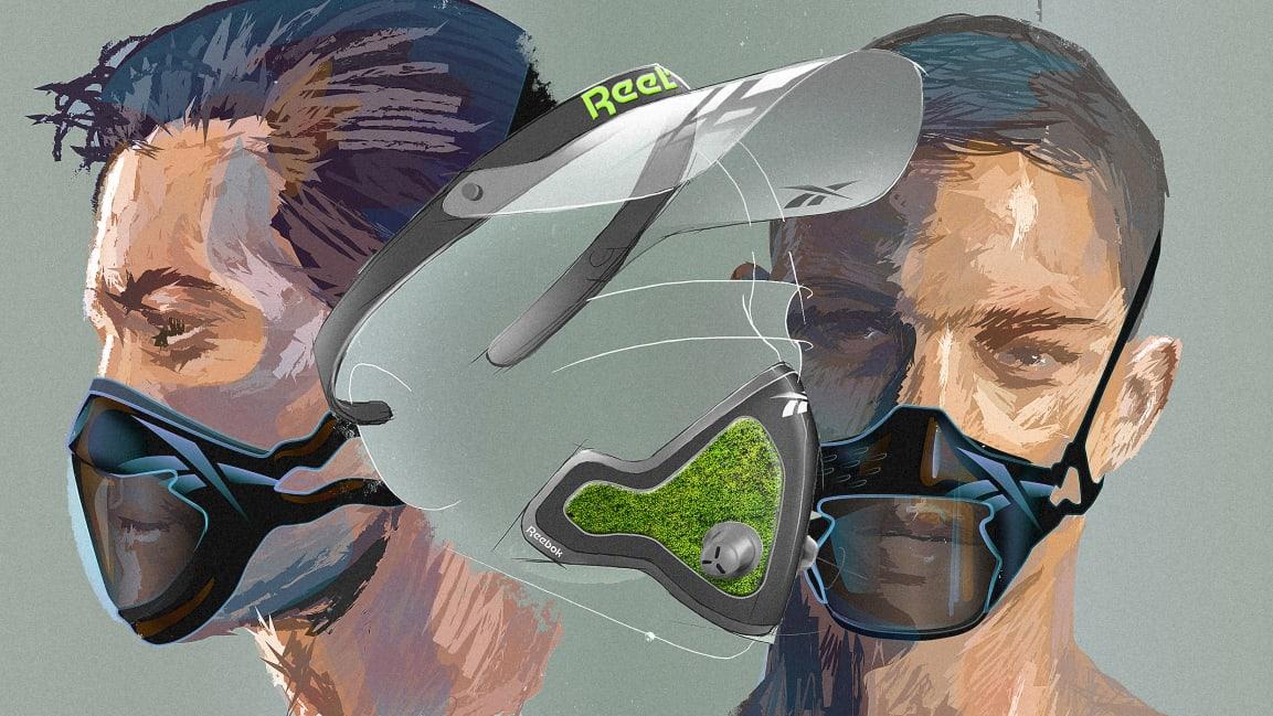 Фитнес-маски Reebok для антиутопического будущего