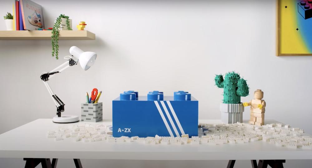 Появился первый тизер кроссовок Lego от adidas