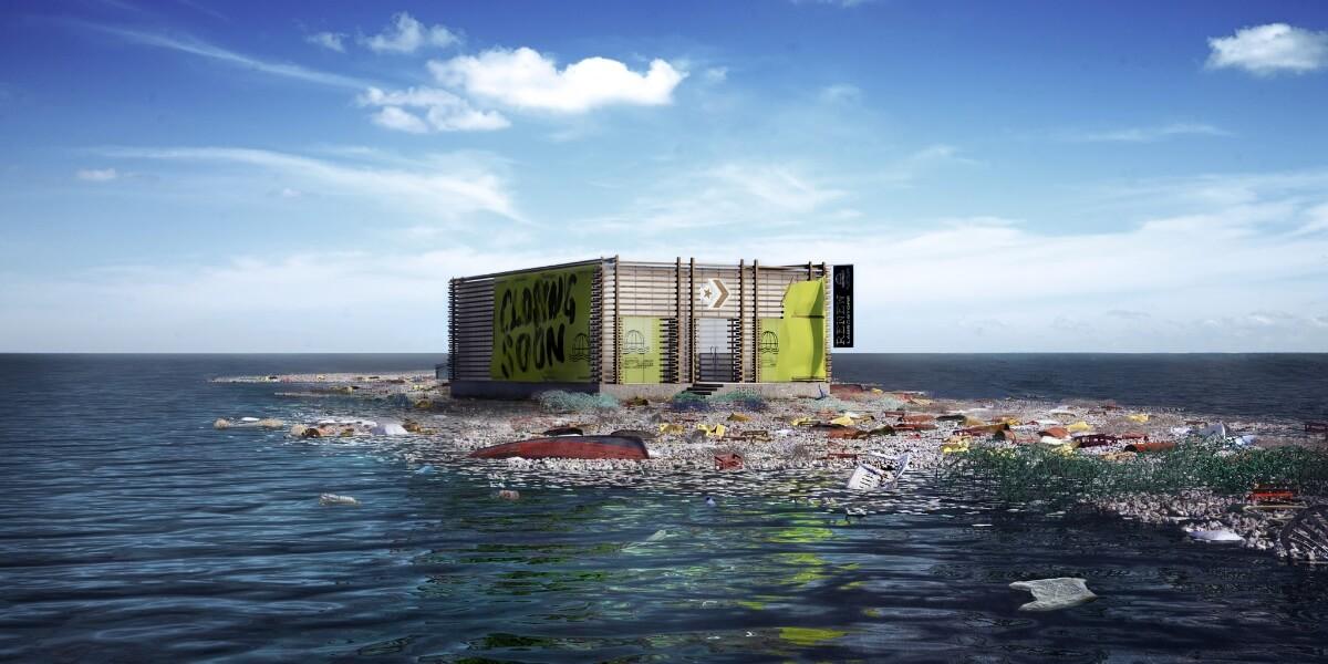 Converse откроет виртуальный магазин на мусорном острове посреди океана